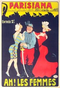 Parisiana Ah! Les Femmes printed circa 1895