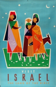Israel poster from the Israeli Tourist Bureau c. 1960