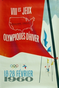 Beautiful, Original and Rare Mint Condition Squaw Valley Olympics Poster