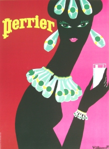 Perrier Earrings 1977
