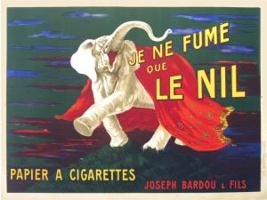 Je Ne Fume Que Le Nil by Cappiello