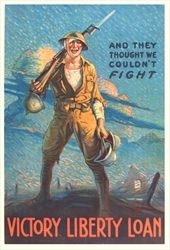 "Original WWI poster ""And They Thought We Couldn't Fight"" by Forsythe"