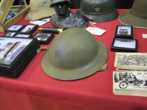 Photo of US Marine Helmet from WWI
