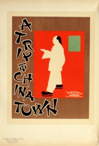 A photograph of A Trip to Chinatown Poster, Maitres de l'Affiche plate#184