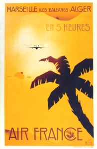 A photograph of Air France Marseille Poster
