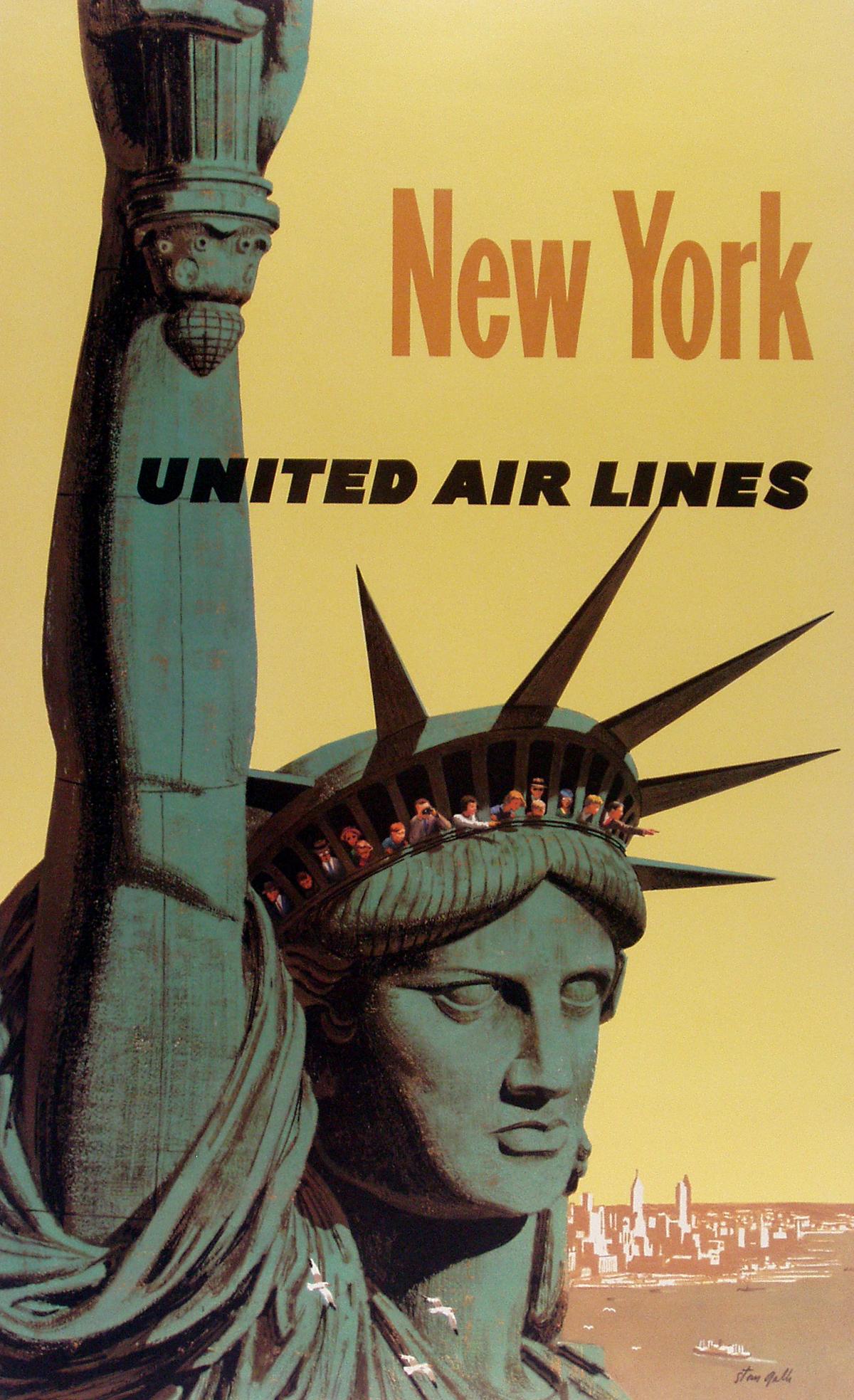 united airlines posters vintage european posters. Black Bedroom Furniture Sets. Home Design Ideas
