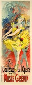 A photograph of Les Coulisses de L'opera Poster, Les Maitres de l'Affiche plate #37
