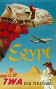 A photograph of TWA Egypt Poster