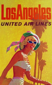 A Photograph of United Airlines Los Angeles Poster