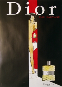 A photograph of Dior (man in doorway) poster