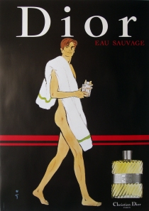 A photograph of Dior (man with towel) poster