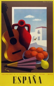 A photograph of Espana (guitar) poster