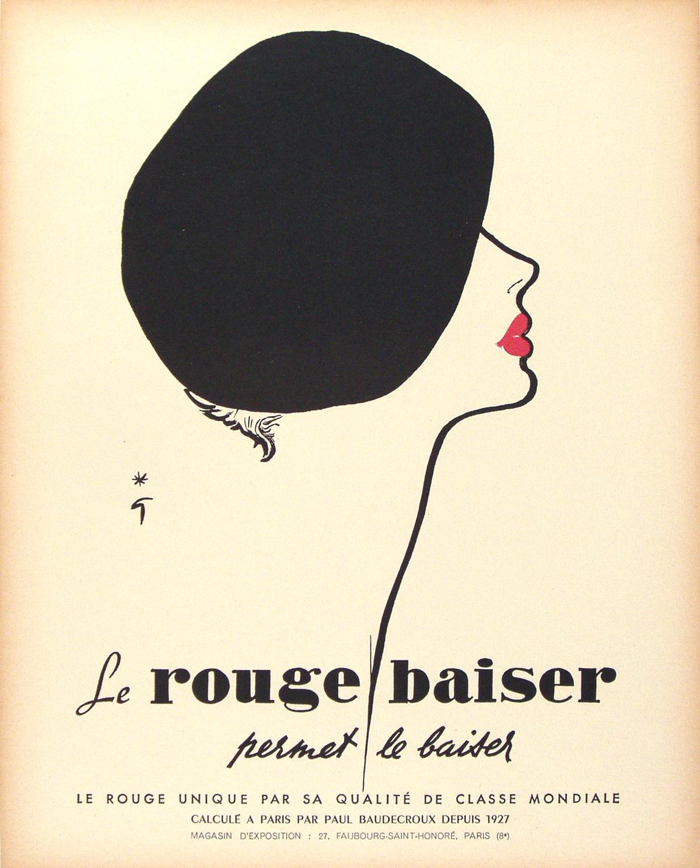 a short biography of rene gruau vintage european posters. Black Bedroom Furniture Sets. Home Design Ideas