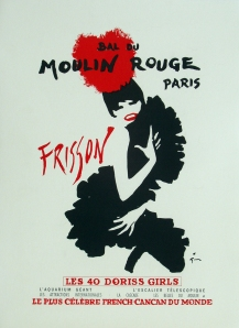 A photograph of Moulin Rouge Frisson Poster