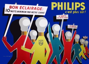 A photograph of Philips (strike) poster