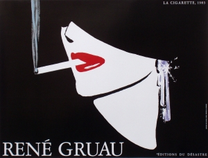 A photograph of La Cigarette Poster