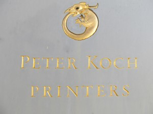 Peter Koch Printers sign