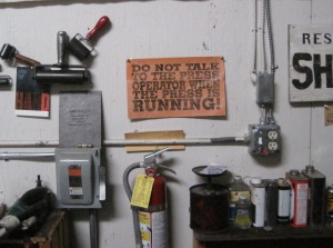 Sign in Peter Koch's shop