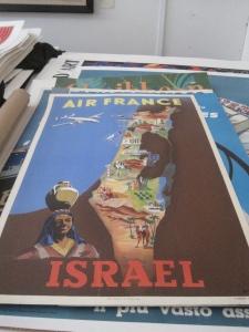 Original Vintage Poster for Israel