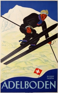 A photograph of Adelboden Poster