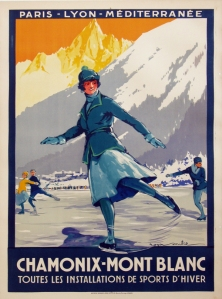 A photograph of Chamonix Mont Blanc Poster