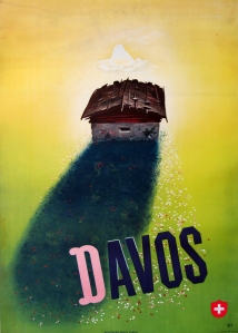 A photograph of Davos Poster