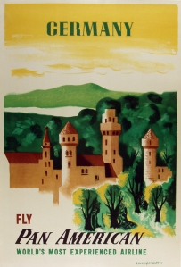 A photograph of Germany Fly Pan American Poster