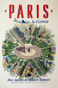 A photograph of Paris by Clipper Poster