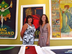 Elizabeth and Charly in the VEP Showroom