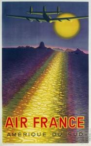 A photograph of Air France Amerique du Sud poster
