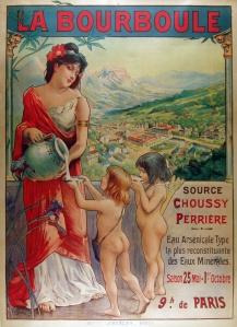 A photograph of La Bourboule poster
