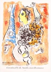 """Offrande a Tour Eiffel"" by Marc Chagall"