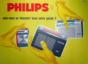Original Poster for Philips Transistor Radios