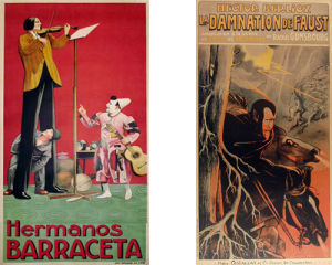 hermanos barraceta, damnation of faust, vintage european posters, antique poster