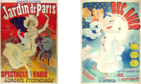 Jardin de Paris, BecAuer, vintage european poster, antique poster