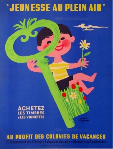 Jeunesse au Plein Air, vintage european poster, antique poster