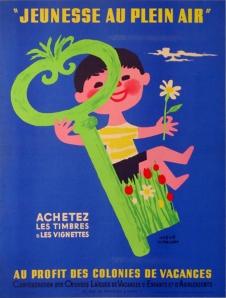 Jeunesse au Plein Air, vintage european poster, antique poster