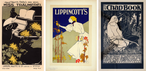 vintage american posters, william bradley, lippincotts