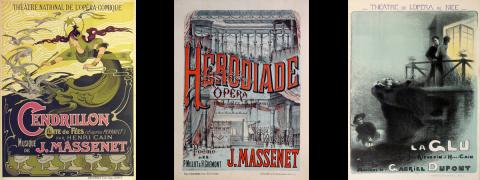 Cendrillon, Herodiade, La Glu, original vintage poster, antique poster