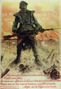 vintage WWI poster, vintage european poster, neumont