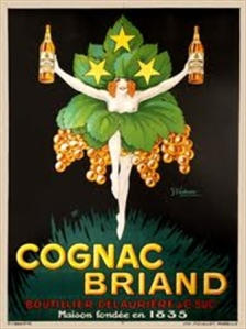 cognac briand, vintage european poster, original poster