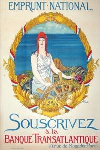 emprunt national, wwi poster, vintage european poster