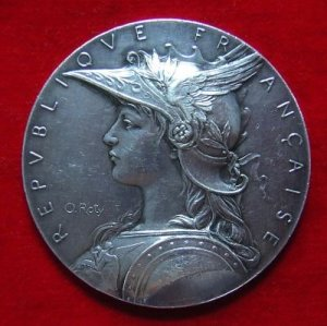 Marianne, french coin, symbol of france