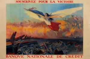Souscrivez Pour La Victoire, Butz, vintage european poster
