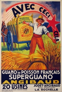 galland, superguano, vintage european poster