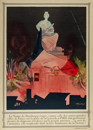 Strasbourg, vintage WWI poster