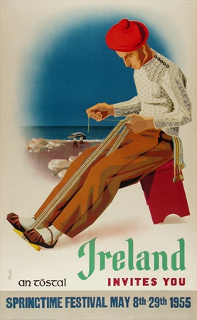 Ireland original vintage poster