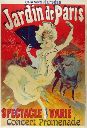 vintage poster jardin de paris