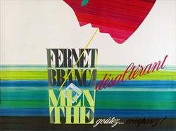 Poster advertising Fernet Branca