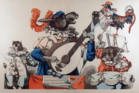 Wissembourg #199- Bremen Musicians c. 1870